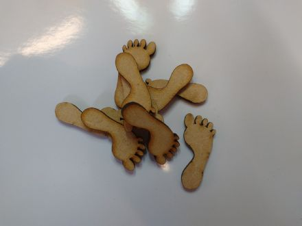 wooden craft BABY FEET shapes, laser cut 3mm mdf embellishments, decoupage,